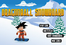 Dragon Ball Snowboard Title Screen