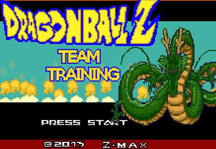 Dragon Ball Z Team Training Title Screen