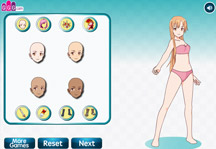 Sword Art Online Dress Up Gameplay