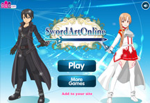 Sword Art Online Dress Up Title Screen
