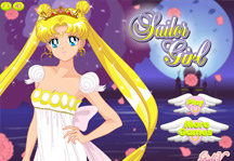 Sailor Moon Dress Up Title Screen