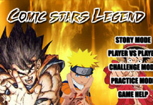 Comic Stars Legend Title Screen