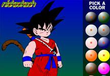 Goku Coloring Gameplay