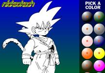 Goku Coloring Title Screen