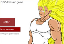 DBZ Dress Up Title Screen