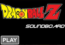 Dragon Ball Z Soundboard Title Screen