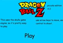 Piccolo vs Saibamen Title Screen