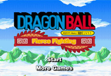 Dragon Ball Fierce Fighting 1.1 Title Screen