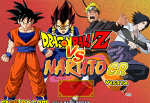 Dragon Ball Z vs Naruto CR Vegeta Title Screen