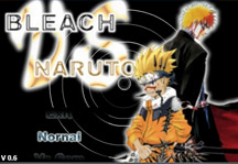 Bleach vs Naruto 0.9 Title Screen