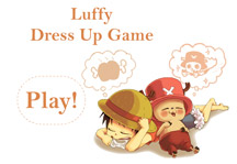 Luffy Dress Up Game Title Screen