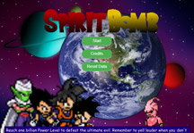 Spirit Bomb Title Screen