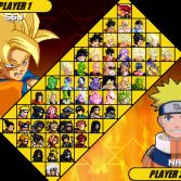 Dragon Ball Z vs Naruto MUGEN - Character select