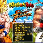 Dragon Ball Z vs Street Fighter III - Title screen