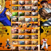Dragon Ball Z vs Street Fighter III - Character select