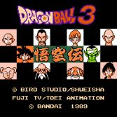 Dragon Ball 3 Gokuden - Title screen
