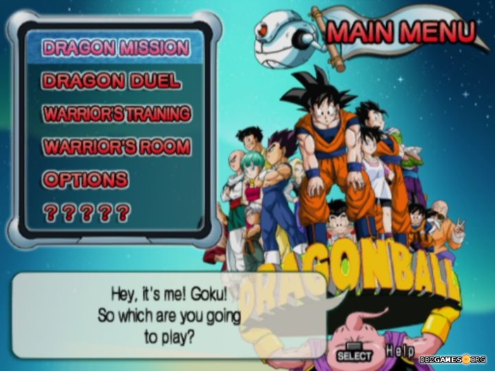 download game dragon ball z infinite world ps2