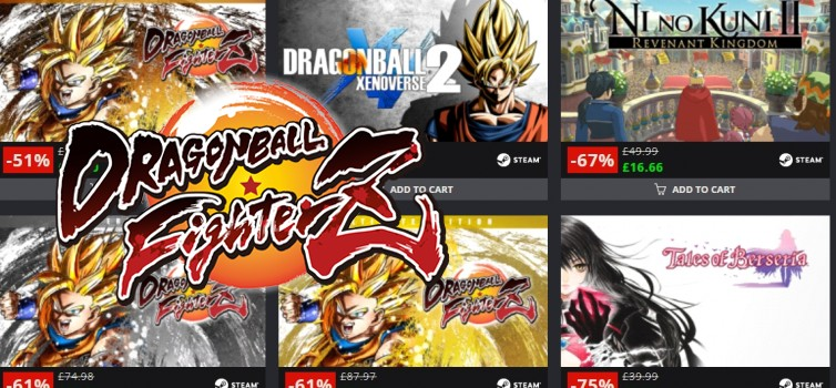 Bandai Namco sales on GMG and Game Billet April 2019, Up to 80% off